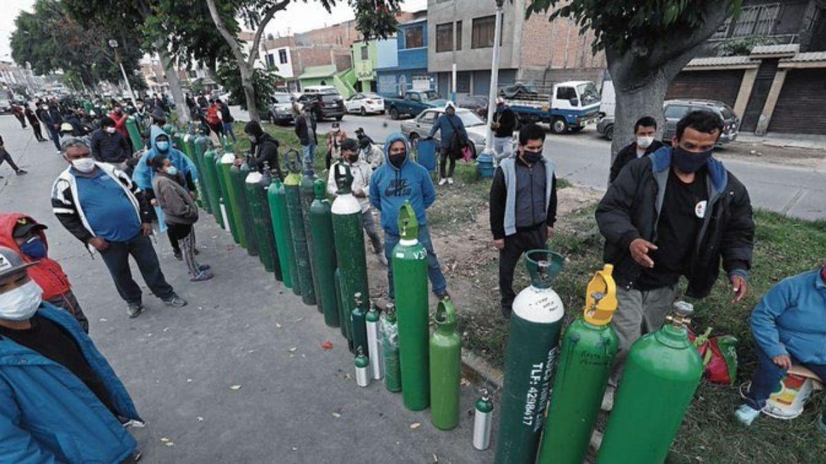 Perú tanques oxígeno