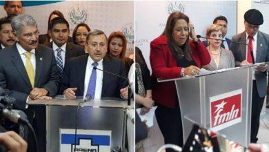 Diputados ARENA y FMLN