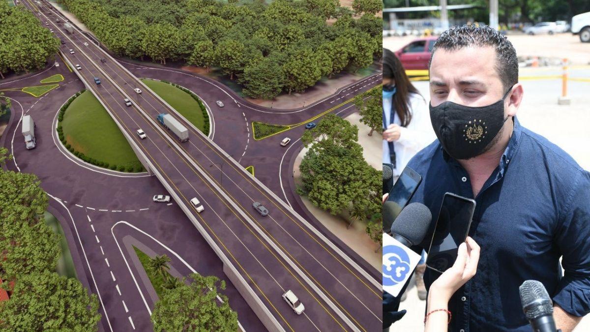 20% de avance en construcciones en Autopista a comalapa