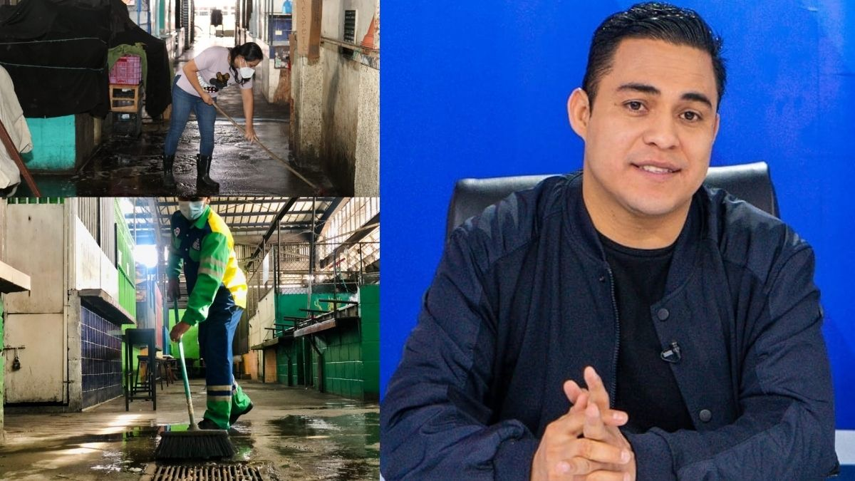 Henry Flores realiza jornada de limpieza en mercado de ST