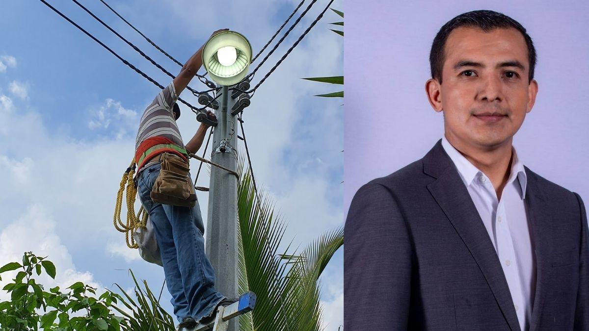 Alcalde de San Pedro Nunualco reestablece sistema de iluminación