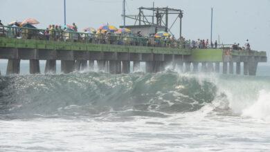 MARN advierte sobre alto oleaje en las costas salvadoreñas.