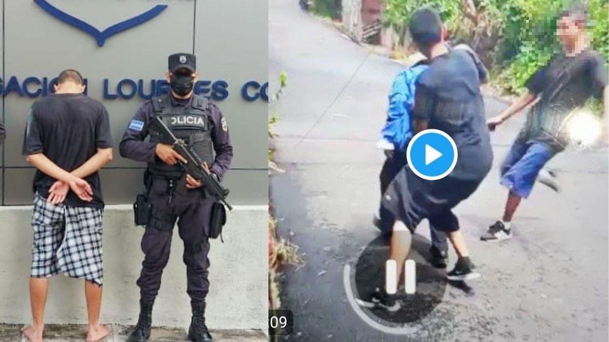 Este hecho sucedió el día de ayer, un par de horas después la PNC publicó en Twitter acerca de la captura de uno de los involucrados.