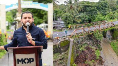 MOP inicia construcción de nuevo puente sobre el río Guaxala en el Rosario de La Paz