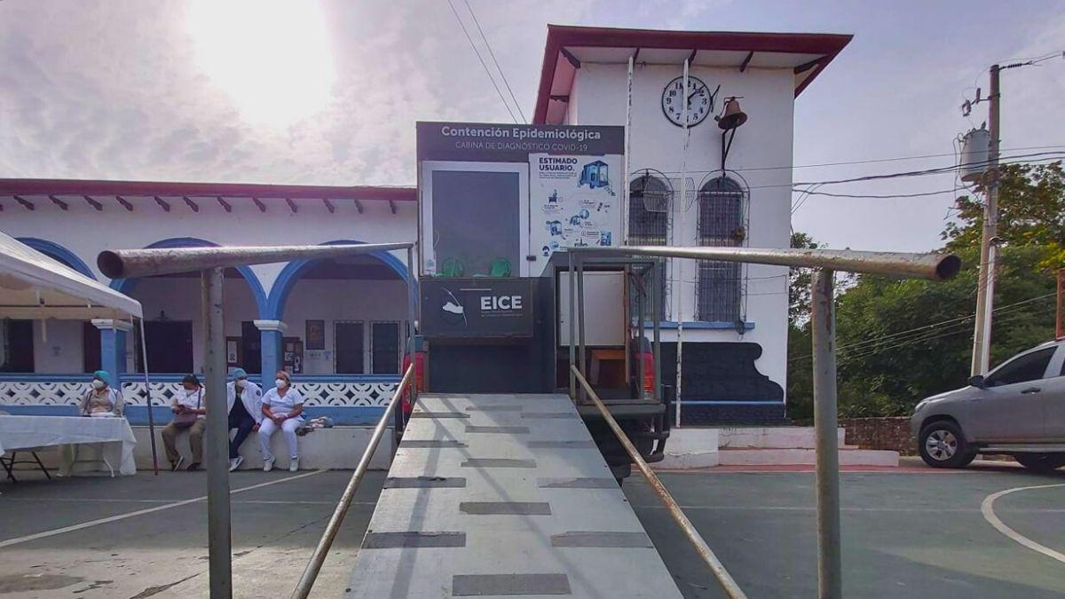 Este día las cabinas móviles de MINSAL llegan hasta San Pedro Masahuat en La Paz