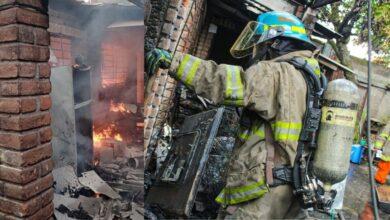 Voraz Incendio consume vivienda de colonia Satélite, San Salvador